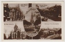 Midlothian postcard - Best Wishes from Edinburgh (Multiview showing 5 views)  RP