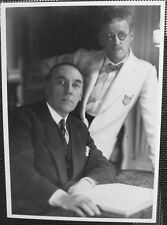 James Joyce and John O'Sullivan -- Paris1929 - New Postcard - Out of Print