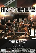Fitz And The Tantrums 2012 Salt Lake Concert Tour Poster - Neo Soul, Indie Pop