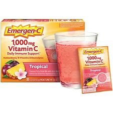 EMERGEN-C 1000 Mg Vitamin C TROPICAL Daily Immune Support 30 PACKETS