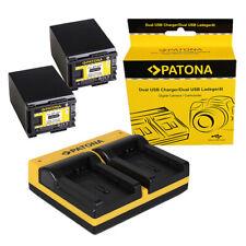 2x Batteria Patona + caricabatteria USB dual per Canon Legria HF G10,HF G20
