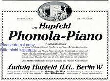 Piano hupfeld phonola publicité 1913 lui-même jeu Fin Fumeur pianiste piano