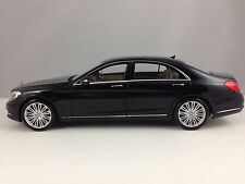 Norev Mercedes Benz S Class Sedan (W222) Black Diecast Model Car 1/18