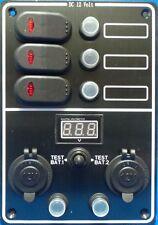 Quality Waterproof 3 Gang Circuit Breaker Switch Panel Digital Volt Meter - SS12