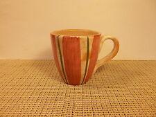 "Present Tense Dinnerware Strips & Dots Red Pattern Mug 4"""