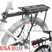 Rear Bike Rack Heavy Duty Alloy Bicycle Carrier 110 Lb Capacity w/ Quick Release