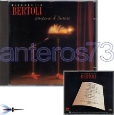 """PIERANGELO BERTOLI """"CANZONE D'AUTORE"""" RARO CD - FABRIZIO DE ANDRE PAOLO CONTE"""