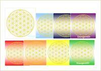 5er Set Blume des Lebens Sticker für PC Handy Laptop Notebook gold ABRIEBFEST