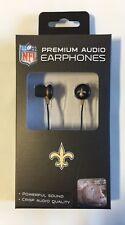 New Orleans Saints iHip Premium Audio Earphones Earbuds - iPhone iPod NEW