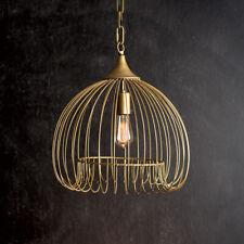 Antique Brass Wire Pendant Light-Vintage Inspired Home Lighting