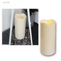LED Kerze 23cm für Außen/Outdoor-Kerzen Ø10cm flammenlos flackernde candle Timer