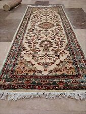 New Love Ivory Floral Medallion Hand Knotted Wool Silk Carpet Runner Rug (6x2)'