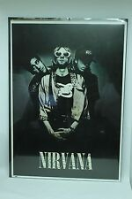 """NIRVANA POSTER LARGE RARE KURT COBAIN DAVE GROHL 54"""" X 39"""" Pick up Only"""