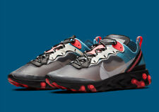 Nike React Element 87 Black Grey Red Blue AQ1090-006 New Men's Shoes No Lid