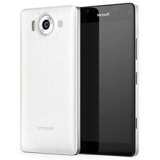 Mozo Microsoft Lumia 950 Qi Cargador Inalámbrico posterior Funda Protectora Nfc Blanco Plata