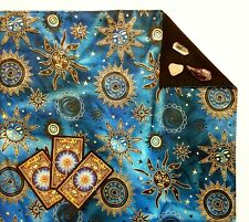 "Batik Tarot Cloth or Altar Cloth - Celestial Brilliant -18""x20"" Lined SPClo"