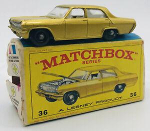 Lesney Matchbox #36 Opel Diplomat W/ Original Box
