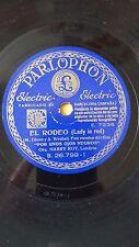 JAZZ 78 rpm RECORD Parlophon ORQUESTA HARRY ROY Film POR UNOS OJOS NEGROS