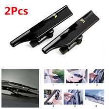 Pair Black Car SUV Windshield Wiper Blade Decorative Spoiler Mate Wing Universal