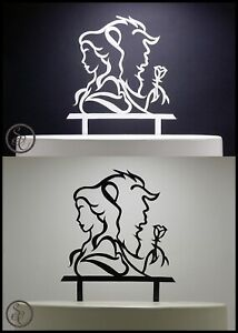 Beauty & The Beast Engagement Wedding Cake Topper