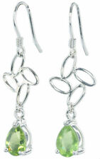Hook Natural Peridot Fine Earrings