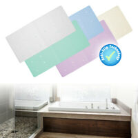 Rubber Extra Long Large In Bath Tub Or Shower Mat White Non Slip Anti Mould Kids