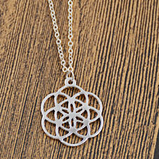 Flower of Life Charm Alloy Pendant Necklace Sacred Geometry Jewelry Gifts Amulet