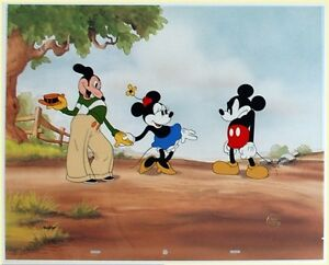 Original Walt Disney Limited Edition Cel Mickey's Rival, featuring Mortimer