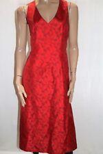 VINTAGE Retro yoshi jones Brand Red Floral Rockabilly Swing Dress S #VIN08