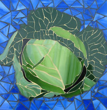 Mosaic Art Cabbage Hand Crafted Stained Glass