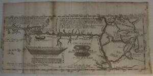GREAT LAKES REGION CANADA MIDWEST USA 1703 BARON DE LAHONTAN SCARCE ANTIQUE MAP