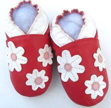 soft sole baby leather shoes daisy red 12-18 m gift free shipping minishoezoo