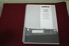 REVOX  C 221 Professional  CD Player  SERVICE MANUAL