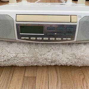 Sony Mega Bass Under Cabinet Counter Clock Radio AM FM CD Player Hardware cd513