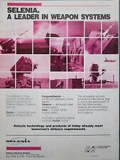 9/1988 PUB SELENIA ITALIA SPADA ASPIDE ASAS ANTI AIRCRAFT NAVAL WEAPON SYSTEM AD