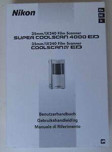 Nikon Handbuch für Super Coolscan 4000 ED Diascanner (Dia-Scanner, 4000ED)