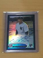 2012 Topps Chrome Refractor /100 Dellin Betances Auto RC True Rookie Autograph