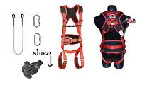 SET XXL Sicherheitsgurt Klettergurt Kletterausrüstung Baumpflege Fallschutz Seil