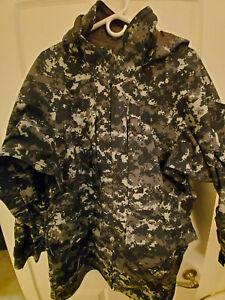 USN US Navy Working  NWU Type I Blue GoreTex Parka Jacket Medium Regular