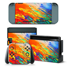 Colour Swoosh Nintendo Switch Protective Skin 4 Pc Sticker Set - 0232