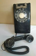 Vintage Bell System AT&T Western Electric Black Rotary Dial Wall Phone