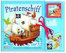 Piratenschiff ✫ Pop-up Schiff ✫ mit Spielfiguren ✫ Bücher-Minis ✫ NEU