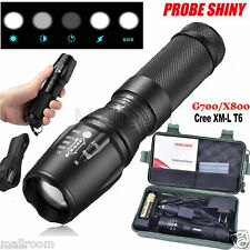 X800 Zoom XML T6 LED Police ShadowHawk 5000LM Taschenlampen+18650+Lade+Box Set
