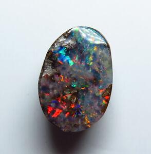 Australian Boulder Opal 3.21ct Queensland Natural Stone