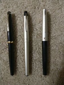 Lot of 3 Pilot Fountain pens All With 14k Gold nibs.