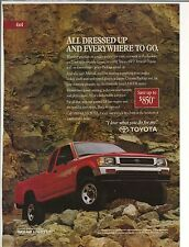 Original 1992 Toyota Pickup 4x4 Magazine Ad - All Dressed Up