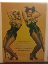 Amazing Rare Vintage Color Marilyn Monroe@ Jane Russell Magazine Clipping