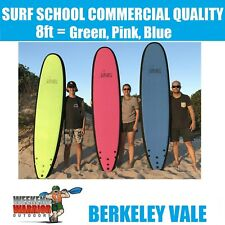 8ft SOFTBOARD PACK with LEGROPE Foam Surboard Learn to Surf PINK GREEN BLUE
