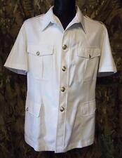 "ROYAL NAVY OFFICER Class 1 & 3  Bush White Dress Uniform Jacket & belt ""38-39 """