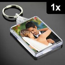 1x Premium Quality Clear Acrylic Blank Photo Keyrings Key Fobs 50 x 35 mm